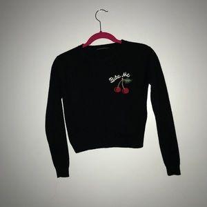 Bite me sweater brandy Melville